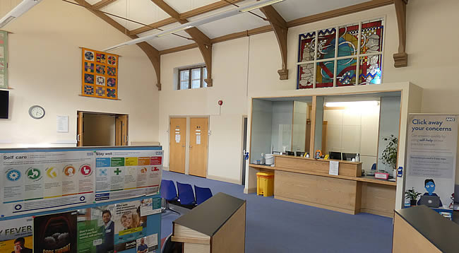 Reception and Waiting Room at Abbey Surgery